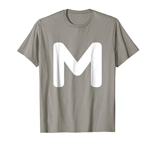 Chipmunk Halloween Costume Shirt, Letter M Costume T Shirt