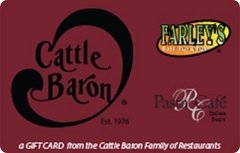 Amazoncom Cattle Baron Restaurant Gift Card 25 Gift Cards