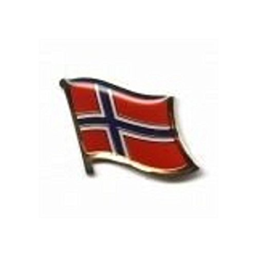 SUPERDAVES SUPERSTORE Norway Country Flag Small Metal Lapel Pin Badge ... 3/4 X 3/4 Inches ... New