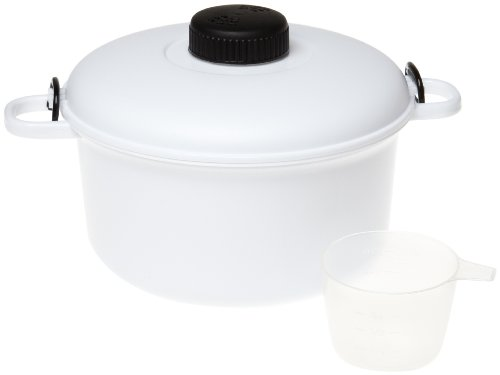 Handy Gourmet Micromaster Kitchen Microwave Pressure Cooker - White ()