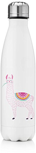 Llamas Tapered Water Bottle - 17 oz. - Stainless Steel