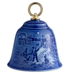 Bing and Grondahl 1912613 Christmas Bell, Light In The Snow 2013