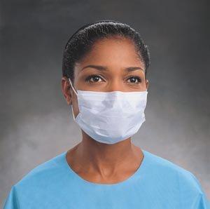 Halyard Health 28821 Fluidshield Level 2 Fog-Free Procedure Mask, Wraparound Visor, Blue (4 Boxes of 25, 100 Total)