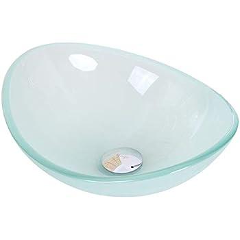 Mini Tempered Glass Boat Shaped Oval Bowl Bottom Vessel