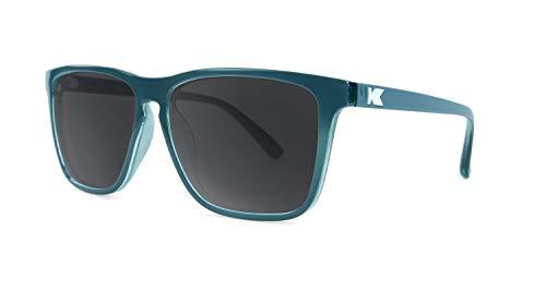 Knockaround Fast Lanes Polarized Sunglasses With Teal Frames/Black Lenses -