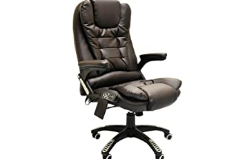 luxury office chair. luxury office leather chair with 6 point massage heating available in black brown