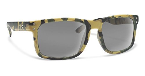 Forecast Optics Clyde Sunglasses, One Size, Green Camo Frame, Gray - Glasses Frames Bum
