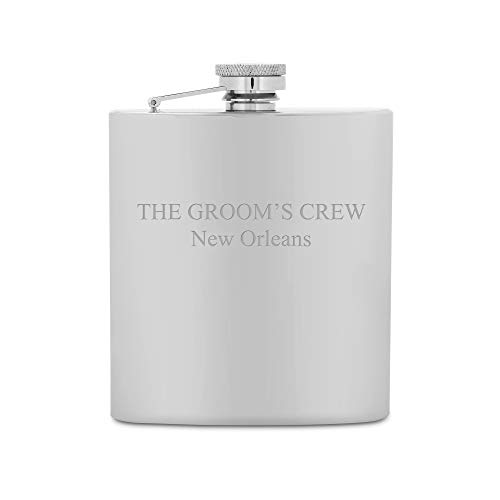 Things Remembered Personalized Shiny Stainless Steel 7 oz. Flask, Engraved Flask with Engraving Included