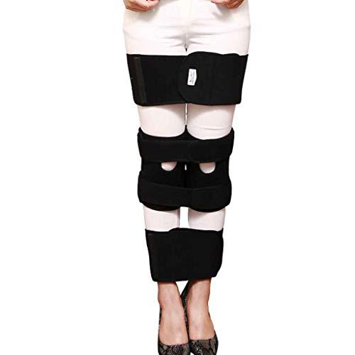Hcwlxjy Verstellbare Bein Korrektur Gürtel O-Typ Beine X-Typ Bein Korrekturroller Strap Haltung Korrektor Gürtel Recovery Schönheit Richten Bein,Black,L (Korrektur)