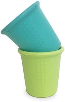 Silikids GoSili CUP2PK01 siliconen cups 2 stukssea lime meerkleurig