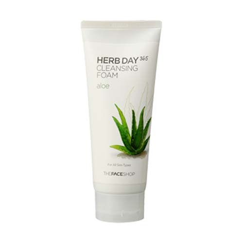 [The Face Shop] Herb Day Cleansing Foam, Aloe