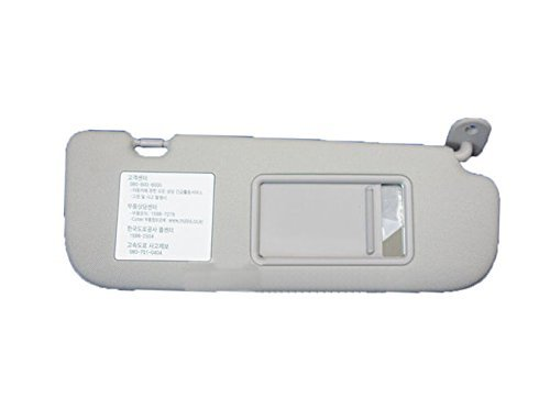 (Hyundai Motors OEM Genuine 852203X000TX Gray Right Passenger Inside Sun Visor 1-pc For 2011 ~ 2014 Hyundai Elantra : Avante MD )