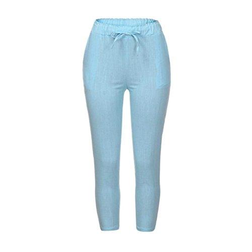 Taille Pantalones De Chiffon Tiempo Grün Ligero Pants Harem Mujeres Cómodo Verano Casuales Pluderhose Elastische Battercake Unicolor Libre Damas Hd5w4zxdq