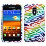 MYBAT SAMD710HPCIM764NP Compact and Durable Protective Cover for Samsung Galaxy S2/Epic 4G Touch - 1 Pack - Retail Packaging - Colorful Zebra
