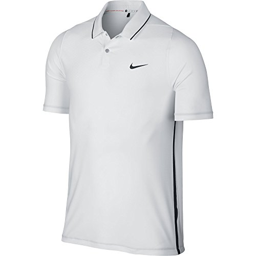 Tiger Woods Nike (NEW Nike Tiger Woods TW VL Max HyperCool Polo White/Black Small Golf Shirt)