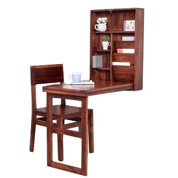 M&M Honey Matt Finish Wooden Study Table