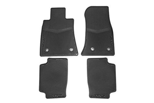 GM Accessories 22759927 Front and Rear All-Weather Floor Mats in Jet Black with ATS Logo (General Motors Parts Accessories)