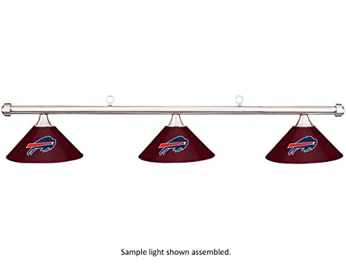 Imperial NFL Buffalo Bills Burgundy Metal Shade & Chrome Bar Billiard Pool Table Light