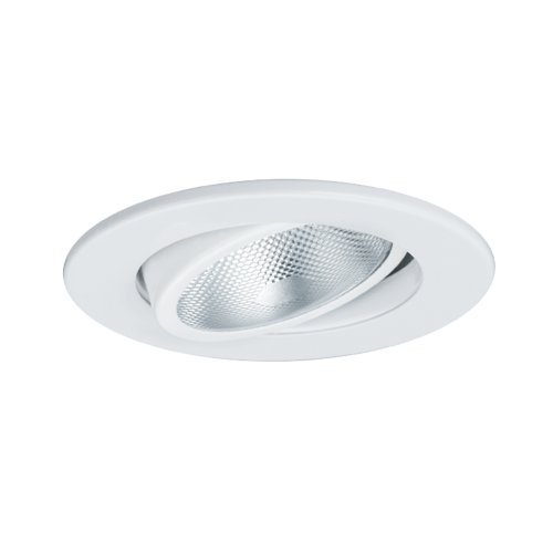 - Jesco Lighting TM603WH 6-Inch Aperture Line Voltage Trim Recessed Light, Adjustable Gimbal Ring, White Finish