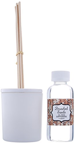 Creative Co-Op CD1017 BZ Flaire Grey Brushed Suede Glass Reed Diffuser ()