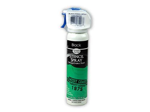 Kole Imports SC567-96 Simply Spray Black Stencil Spray - Pack of 96