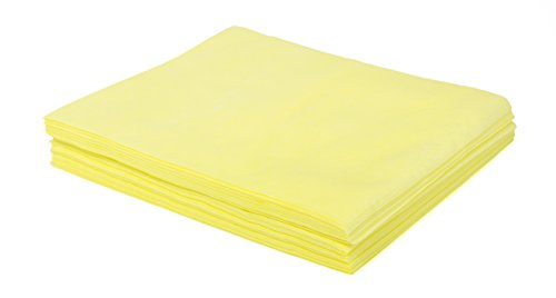 TaskBrand N-DSMFPY Hospeco Mineral Oil Treated Duster, Quarter-Fold, Poly Packed, Specially Treated to Attract and Hold Dust, 18'' x 24'', Yellow (10 Packs of 50) by TaskBrand (Image #1)