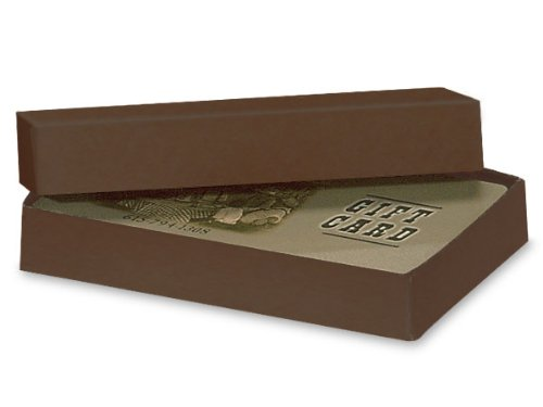 CHOCOLATE EMBOSSED KRAFT Rigid GiftCard Holder 3-7/16 x 2-3/16 x 9/16'' (1 unit, 100 pack per unit.) by Nas