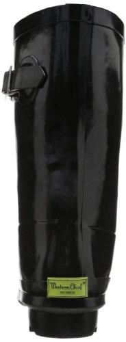 Rain Women Waterproof Chief Solid Black Boot Mid Western wf8qX55