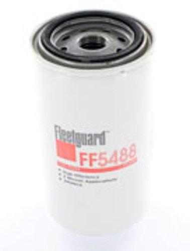 Fleetguard FF5488 Fuel Filter For Cummins 3959612, 98.7% Efficiency, 5-Micron Rating, 7/8-14 UNF-2B Thread Size, 6.92''H x 3.68''OD