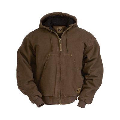 Berne Men's Original Washed Hooded Jacket, Bark, Medium/Tall ()
