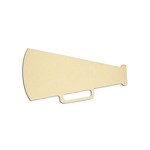 """Mini 5"""" x 3"""" Megaphone (Pkg of 4) Miniature Unfinished DIY Wooden Craft Cutout to Sell Stacked"""