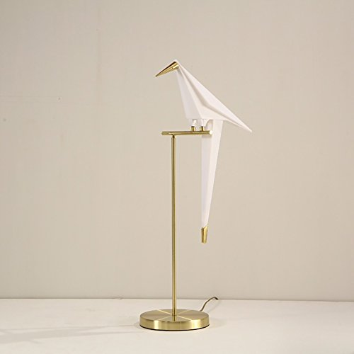 LED Desk Lamp Eye-caring Office Lamps Creative Swing Bird Lamp, Modern Gold LED Table Lamp 32.3'' x 13.8'' 6W fit for Bedroom Study by Razaban