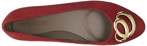 Aerosoles Donna Metro Park Slip-on Mocassino In Camoscio Rosso