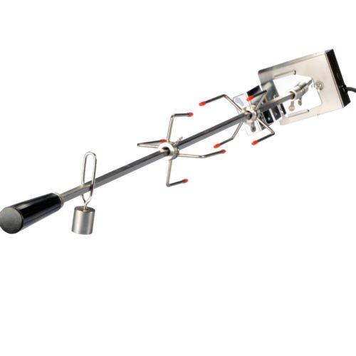 Drehspieß 104cm Edelstahl Grillspieß für Gasgrill Grill mit Motor 220V 10x10mm