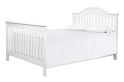 Full Size Conversion Kit Bed Rails for Davinci Jayden 4-in-1 Crib - White