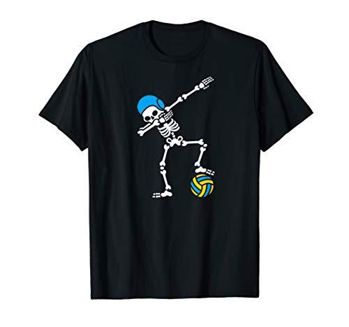 Funny Dab dabbing skeleton Water polo Halloween swim T-Shirt