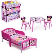 High Quality Minnie Mouse Bedroom Set With BONUS Toy Organizer