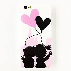 Lovely Balloon Lovers Pattern Polycarbonate Hard Case for iPhone 4/4S , Multicolor
