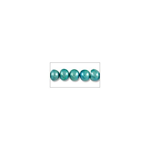 Freshwater Potato Pearl Teal Blue 6-7mm (16