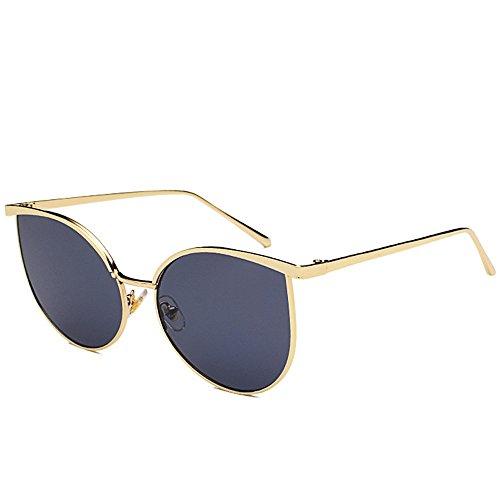 estilo DESESHENME de de borde lentes lente con retro Unisex Gafas azul oro de señoras moda borde Hombre Lente plateado gris aviador fqrU0wHxtq