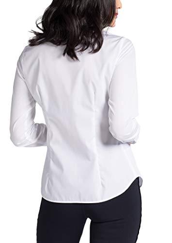 Slim Fit Blouse Sleeve Eterna Long Uni Bianco vgqan0wn