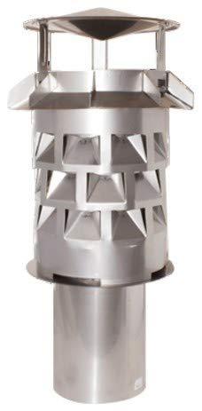 Windkat-Schornsteinaufsatz mit Einsteckstutzen Ø 146 mm - Nennweite Ø 150 mm
