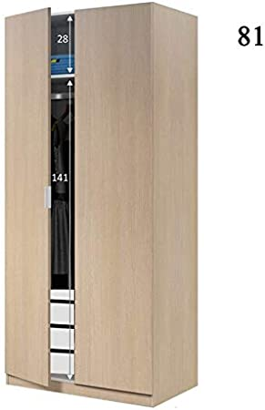 HABITMOBEL Armario Dormitorio 2 Puertas con Barra de Colgar + ...