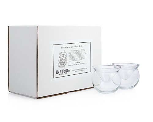 """World's Coldest"" 2-Part Martini Chiller (Gift Box Set of 2) 2 2-piece, innovative design maintains constant temperature of contents Conical glass fits atop a balloon-shaped bowl that gets filled with cracked ice Holds 5.75 ounces, perfect for service of Martinis, caviar, shrimp cocktails, or frozen desserts"
