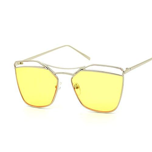 Yellow Gafas De Personalidad De Nuevas Gran De De De Sol Gafas Silver Moda CHIRH Gafas Sol Sol Creativas gTnxFnS