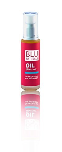 "Blu Naturals Oil for your hair""Down There"" – Keep Your Bikini Hair Soft Naturally, Ingrown Hair Remedy & Shaving Oil, Hair & Skin Softener for Women & Men – Sensitive Formulation"