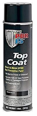 Chassis Top - POR-15 45818 Gloss Black Top Coat - 14 fl. oz. (4 Pack)