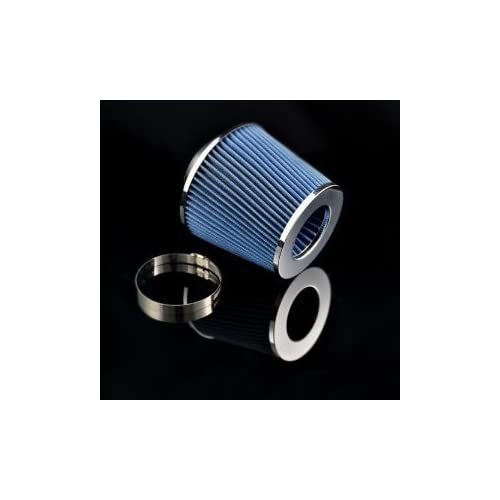 "03 04 05 06 Nissan 350z 3.5 V6 Air Intake Filter MAF Adapter + 3"" Air Filter (Include Blue Air Filter)"