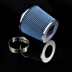 "03 Zx2 Tracer Escort (97 98 99 00 01 02 03 Escort / Tracer / ZX2 Air Intake Filter MAF Adapter + 3"" Air Filter (Include Blue Air Filter))"
