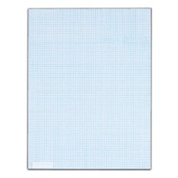 TOPS(TM) Quadrille Pad With Heavyweight Paper, 8 x 8 Squares/Inch, 50 Sheets, White by Tops